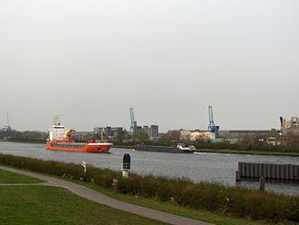 Ghent–Terneuzen Canal - Near the bridge of Sluiskil