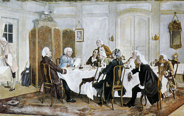 Kant and Friends at Table by Emil Doerstling, 1892 (Wikimedia Commons)