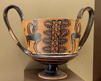 Kantharos - Image: Kantharos sphinxes Louvre CA1339