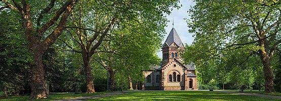 Chapel on the historic city cemetery in Göttingen, Germany.