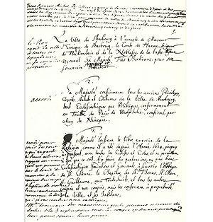 Illkirch-Graffenstaden - Illkirch Capitulation Document (Kapitulationsurkunde)  Page 1