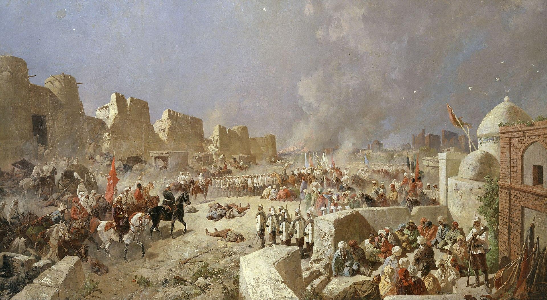 Вступление русских войск в Самарканд
