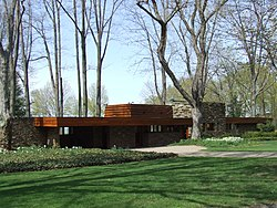 The Karl A. Staley House, designed by Frank Lloyd Wright