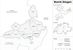 Map of Gösgen District