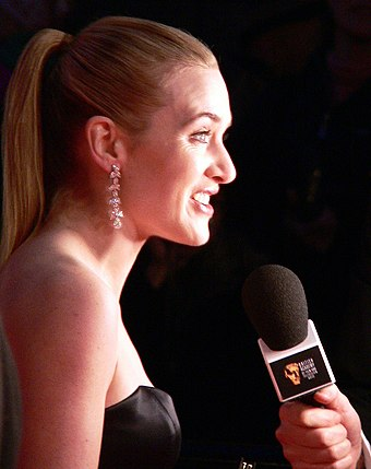 Winslet at the 60th British Academy Film Awards, where she was nominated for Best Actress for her role in Little Children Kate Winslet 2007.jpg