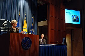 HealthCare.gov - Kathleen Sebelius and Todd Park, chief technology officer of the Department of Health.