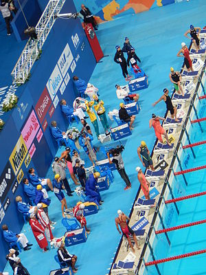 Swimming at the 2015 World Aquatics Championships – Women's 4 × 200 metre freestyle relay - Before the final