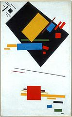 Suprematist Painting (with Black Trapezium and Red Square)