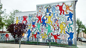 "Point Breeze, Philadelphia - Keith Haring's mural ""We Are The Youth"" at 22nd and Ellsworth Streets in Point Breeze."