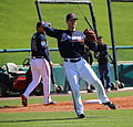 Kelly Johnson fields grounders (24911446539).jpg