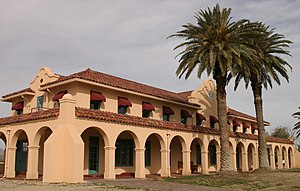 Spanish Colonial Revival architecture - Kelso Hotel and Depot; Mojave Desert, Southern California