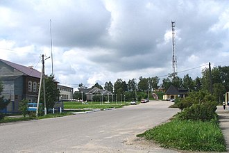 Kesovogorsky District - Central part of the urban-type settlement of Kesova Gora, the administrative center of Kesovogorsky District