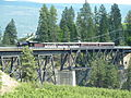 Kettle Valley steam train at Troat Creek Bridge 2011.JPG