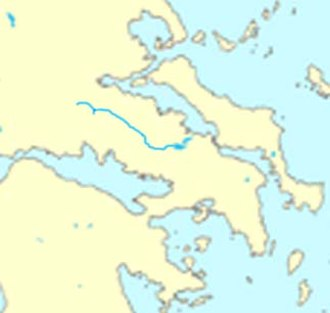 Cephissus (Boeotia) - Location of the river Kifisos in Central Greece