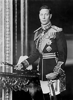 George VI King of the United Kingdom (1936–52), last Emperor of India (1936–47)