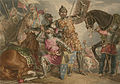 King Henry VI, part III, act II, scene III, Warwick, Edward, and Richard at the Battle of Towton.jpg