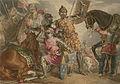 King Henry VI, part III, act II, scene III, Warwick, Edward, and Richard at the Battle of Towton.jpg