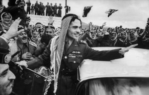 1957 alleged Jordanian military coup attempt - King Hussein among his troops on 1 March, a month before the alleged coup
