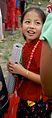 Kirati girl in traditional costume in Kathamdu, Nepal.jpg
