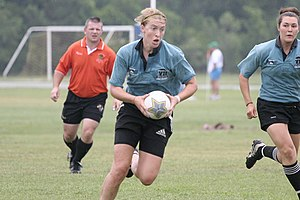 Rugby football - Kirsten Ahrendt 2007 Rugby Seven Atlantis (Under 23's) Vs Usa Rugby South.