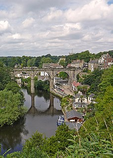 Knaresborough town in North Yorkshire, England