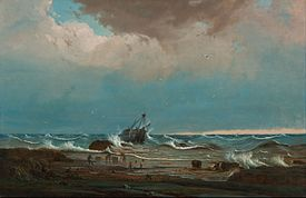 Knut Bull - The wreck of 'George the Third' - Google Art Project.jpg
