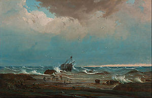 George III (ship) - Image: Knut Bull The wreck of 'George the Third' Google Art Project
