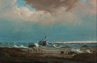 Tasmanian Seafarers Memorial - Image: Knut Bull The wreck of 'George the Third' Google Art Project