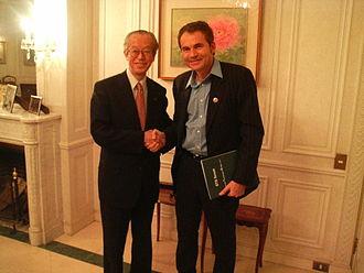 Martín Varsavsky - Martín Varsavsky with Koji Omi at STS in Kyoto.