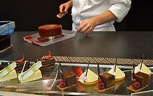 A pastry chef at work