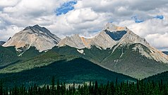 Im Kootenay-Nationalpark nahe Sinclaire Pass