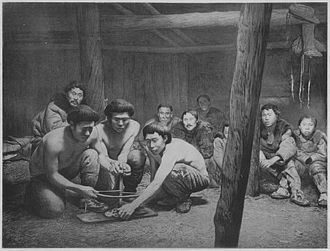 Indigenous peoples of Siberia - Koryak men at the ceremony of starting the New Fire
