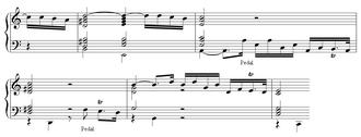 Johann Krieger - Image: Krieger toccata excerpt
