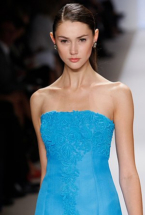 Ksenia Kahnovich in the Badgley Mischka Spring...