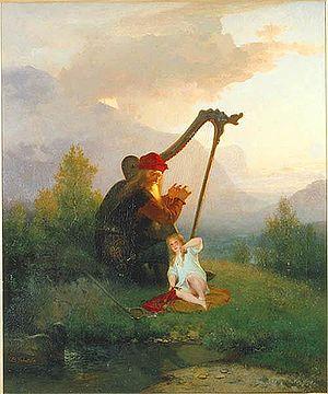 """Háma - """"King Heimer and Aslög"""" (1856) by August Malmström."""