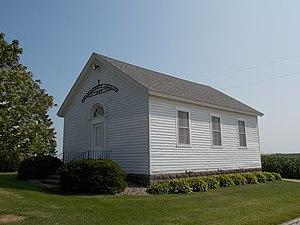 Our Savior's Kvindherred Lutheran Church (Calamus, Iowa) - 1865 Kvindherred Church and school