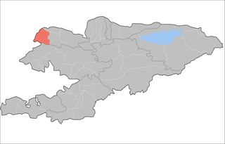 Kara-Buura District Raion in Talas Region, Kyrgyzstan