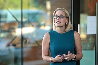 2018 United States Senate election in Arizona - U.S. Congresswoman Kyrsten Sinema at a campaign event in October 2018.