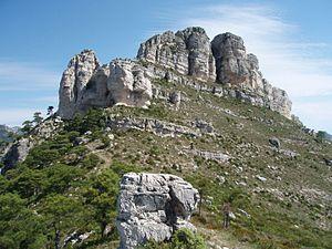 Castell de l'Airosa - Castell de l'Airosa; eastern face.