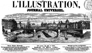 L'Illustration - Title in 1864.