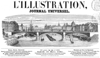 L'Illustration - Title in 1864.