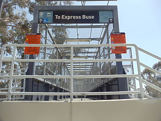 El Monte Busway - Image: LAC & USC Med. Center Metro Silver Line Station 11
