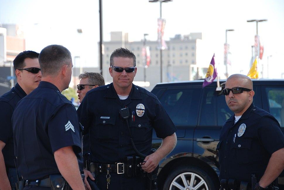 LAPD Staples Center Officers Patrol