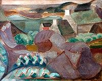 LE FAUCONNIER Henri 1913 Maisons dans les rochers à Ploumanac'h.jpg