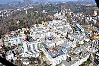 Geidorf - Aeroview of the Universitätsklinikum (university hospital).