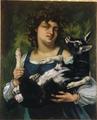 La Villageoise au chevreau by Courbet.png