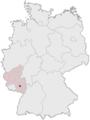 Lage der Kreisfreien Stadt Kaiserslautern in Deutschland.png