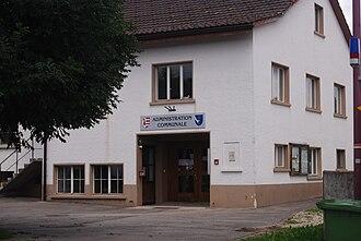 Lajoux (Switzerland) - Municipal administration building in Lajoux