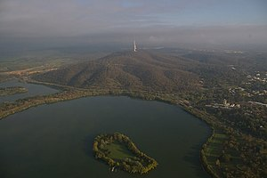 Lake Burley Griffin, Springbank Island and Black Mountain (437596608).jpg