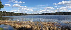 Lake Hall - Photo of Lake Hall taken from Maclay Gardens